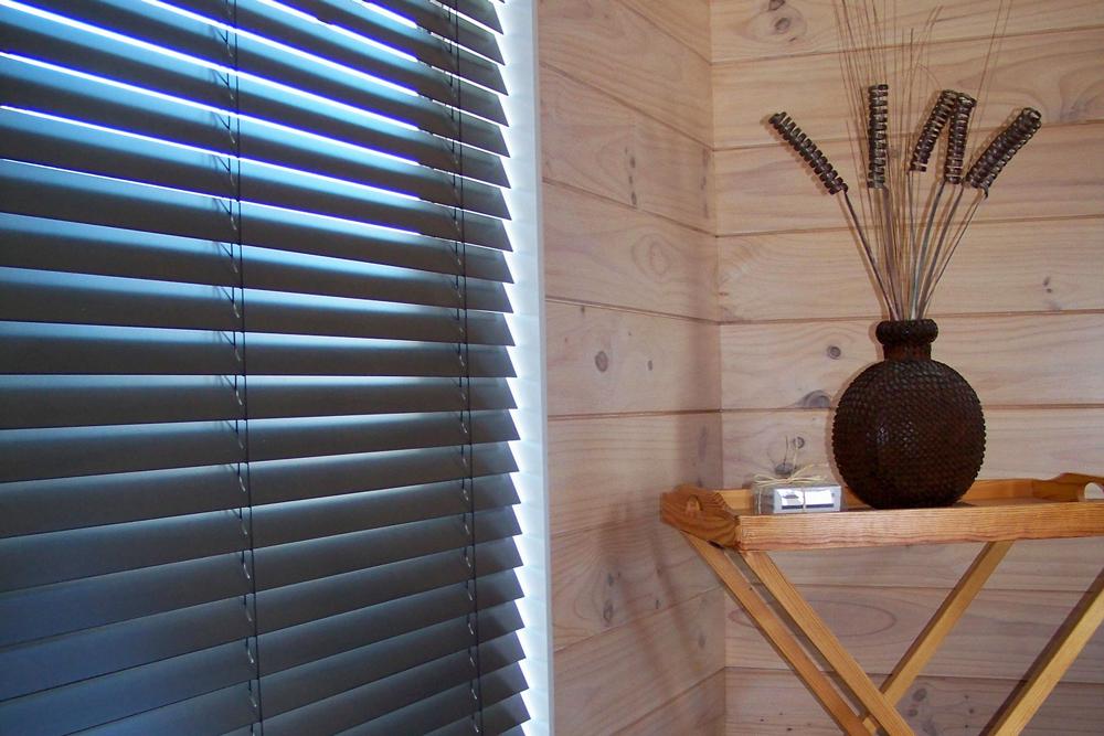 Black walnut venetian blinds