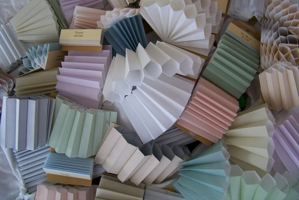 Thermacell honeycomb blinds swatch colours